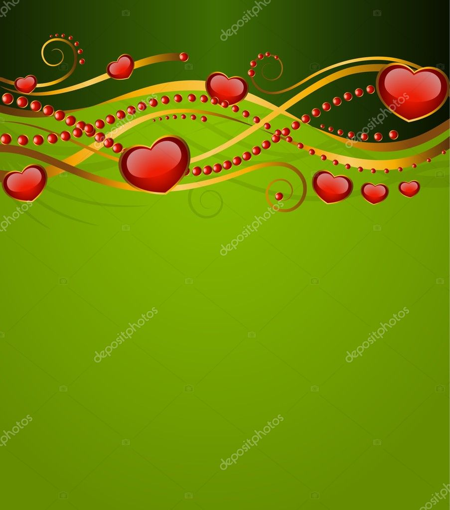 Abstract backgrounds with beautiful heart — Stock Vector #7218859