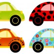 Vector cartoon cars on a white background — Stock Vector