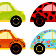 Vector cartoon cars on a white background — Imagens vectoriais em stock