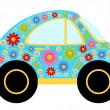 Vector cartoon cars on a white background — Stockvektor