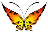 De prachtige vlinder. vector — Stockvector