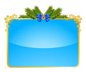 Christmas background with branch — Vector de stock