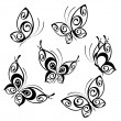 Abstract Butterfly. Beautiful vector illustration — Vector de stock