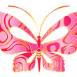 Beautiful butterfly for a design - Vettoriali Stock