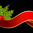 Bright christmas red ribbon - Imagen vectorial