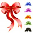 Varicoloured festive bow for a design christmas gifts — 图库矢量图片