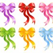 Royalty-Free Stock Vector Image: Varicoloured festive bow for a design christmas gifts