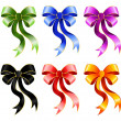 Varicoloured festive bow for a design christmas gifts — Image vectorielle