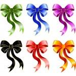 Varicoloured festive bow for a design christmas gifts — Stock Vector #7334033