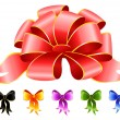 Varicoloured festive bow for a design christmas gifts — Imagen vectorial
