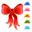 Varicoloured festive bow for a design christmas gifts — Stok Vektör