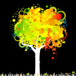 Abstract colorful tree. Nature decoration. — Stock Vector