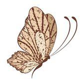 Bir tasarım güzel kelebek — Stok Vektör