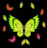 Vector beautiful butterfly for a design — Cтоковый вектор