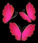 Krásný motýl pro design — Stock vektor
