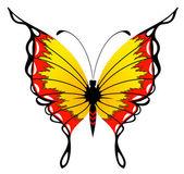 Prachtige vlinder voor een ontwerp — Stockvector