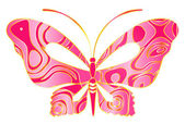Beautiful butterfly for a design — Stock Vector