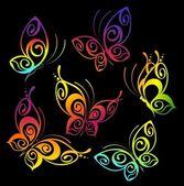 Vacker fjäril för en design — Stockvektor
