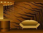 Beautiful interior in 3d for desig — Stok Vektör