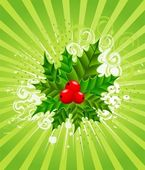 Beautiful christmas green background — Stock Vector