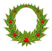 Vector christmas chaplet on a white background — Vector de stock