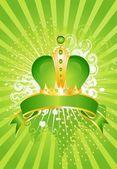 Bella corona d'oro su uno sfondo luminoso per la progettazione — Vettoriale Stock