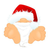 Little nice santa Claus in a red cap — Stock Vector