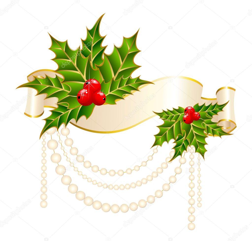 Briefe Dekorieren Free : Stechpalme weihnachten dekorieren mit freien strich bänder