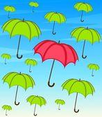 Umbrella with wallpaper design — Stock Vector