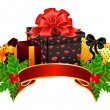 Background with Christmas gifts - Stock Vector