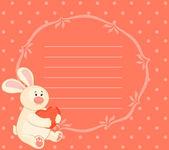 мультфильм маленький кролик игрушка с сердцем — Cтоковый вектор