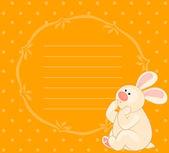 Cartoon little toy bunny — Stock Vector