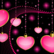 Beautiful hearts for the day of sainted Valentine - Imagens vectoriais em stock