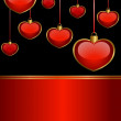 Background by beautiful red hearts for the day of sainted Valentine - Imagens vectoriais em stock