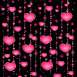 Background with beautiful hearts for the day of sainted Valentine - Imagens vectoriais em stock