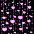Background with beautiful hearts for the day of sainted Valentine -  
