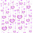 Background with beautiful hearts for the day of sainted Valentine - Stock Vector