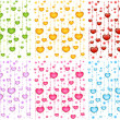 Backgrounds with beautiful hearts for the day of sainted Valentine — Stock Vector