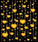 Fondo con hermosos corazones para el día de san valentín santo — Vector de stock