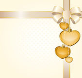 Pozadí s krásnou srdce pro den svatého valentýna posvěcený — Stock vektor