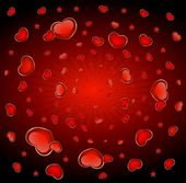 Background with beautiful hearts for the day of sainted Valentine — Cтоковый вектор