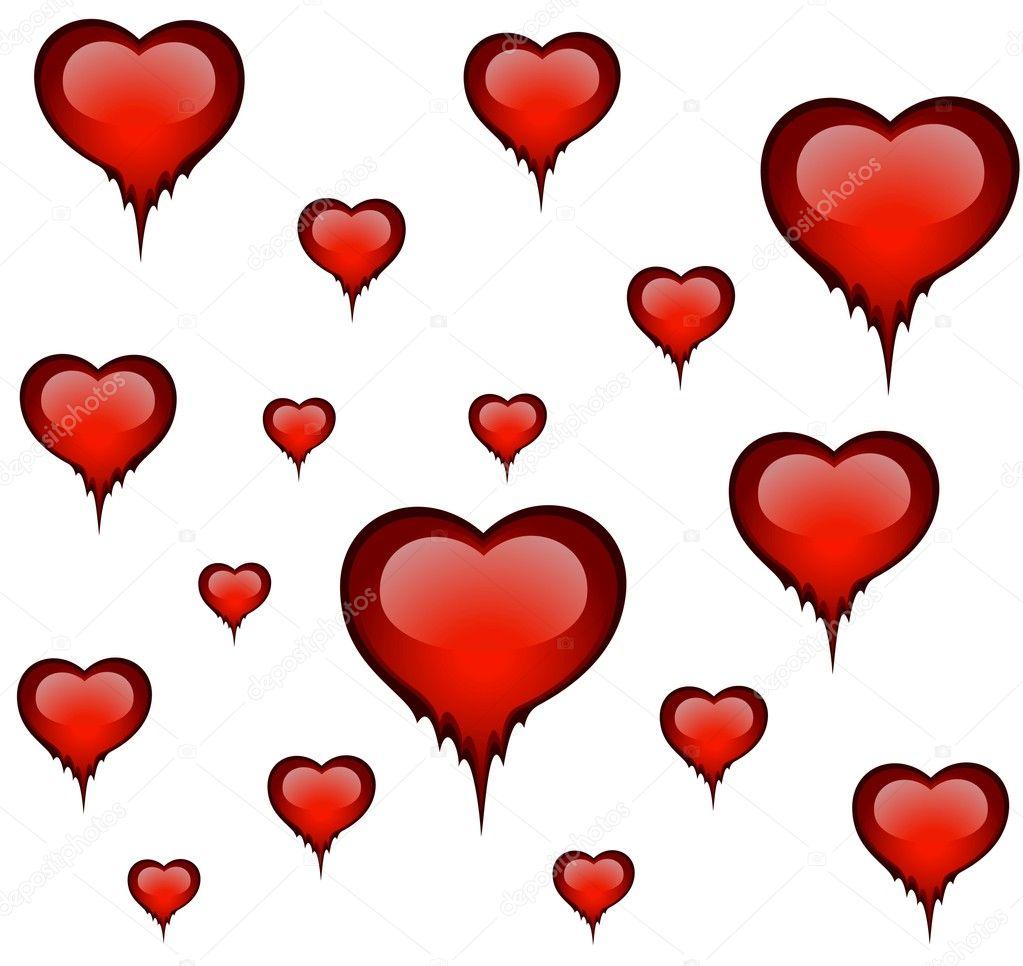 magnifique coeur rouge vif pour un dessin sur le jour de. Black Bedroom Furniture Sets. Home Design Ideas