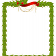 Beautiful Christmas frame on a white background — Stock Vector #7383527