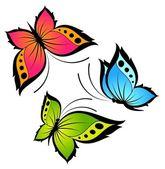 Beautiful butterflies for a design — Stock Vector