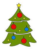 Cartoon funny fir-trees — Stock Vector