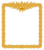 Piękne złote ramki boże narodzenie na białym tle — Wektor stockowy