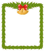 Beautiful Christmas frame on a white background — Stock Vector