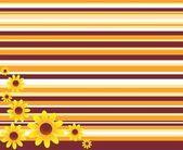Fondo decorativo con flores — Vector de stock