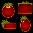 Christmas set of backgrounds — Stock Vector