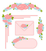 Vector set of valentines day postage stamps — Stock Vector
